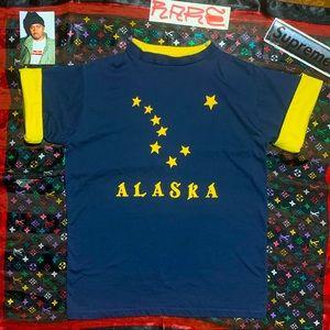 vintage Alaska stars spell out vintage tee  90s
